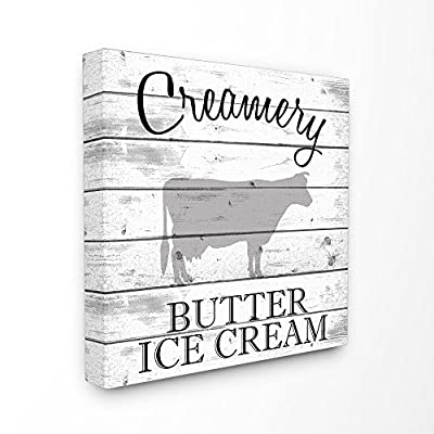 The Stupell Home Decor Collection Creamery Cow Butter Ice Cream
