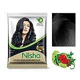 Nisha Henna-Haarpuder, natürliches Schwarz, 10 g, 10 Stück