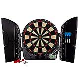 Franklin Sports Electronic Dart Board Set - Soft Tip Electric Dartboard with Digital Scoreboard + Cabinet - Adults + Kids Set - (6) Darts Included - FS3000