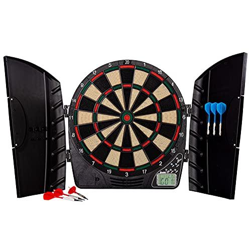 Franklin Sports Electronic Soft Tip Dart Board Set - FS3000 Darts Set with Digital Scoreboard + Cabinet - Kids + Adult Dart Board Set - (6) Darts Included
