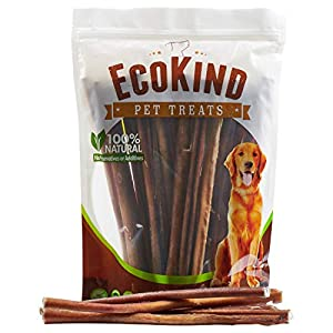 EcoKind Pet Treats All-Natural Premium Bully Sticks for Dogs | 16 Oz. Bag | Delicious Protein Rich Dog Chews (Twelve Inch Sticks, 1 Lb Bag)