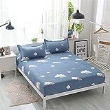 huyiming Bett Schleifen bettdecke schutzhülle staubschutz matratzenbezug einteiliges Bett Set doppel Einzel rutschfeste bettlaken 120 * 200