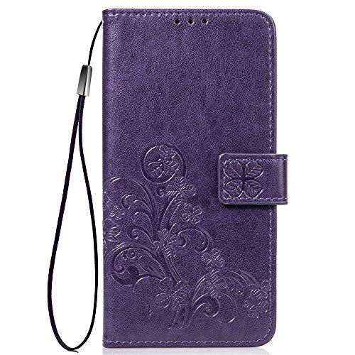 LNLYY XiaoMi Mi 5 Custodia Portafoglio in Pelle PU Cover con Tasca per Carta Case Viola