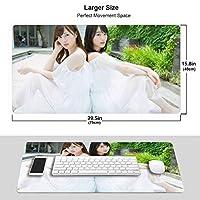 生田絵梨花 マウスパッド 光学マウス対応 パソコン 周辺機器 超大型 防水 洗える 滑り止め 高級感 耐久性が良い 40*75cm