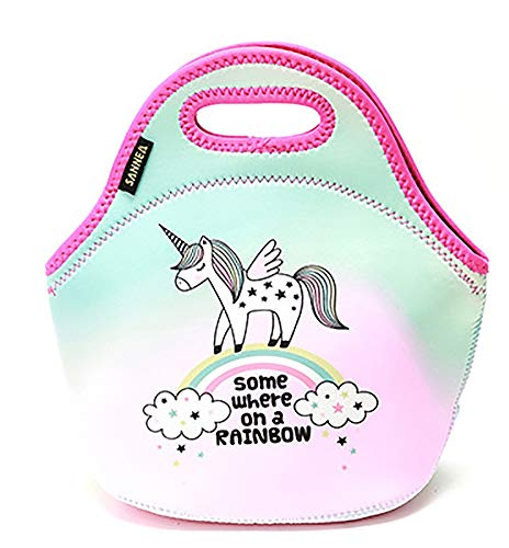 Enfants isolés déjeuner sac fourre-tout portable refroidisseur imperméable à l'eau pique-niquer étui de protection Bureau de l'école de de voyage en plein air stockage des aliments,Green