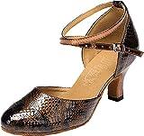 Zapatos de Baile para Mujer para Principiantes, Estudiantes, Profesores, Latinos, Modernos, Cuadrados, Discotecas, Jazz, Color Gris, Talla 38 EU