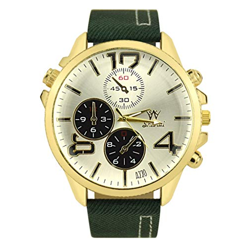 Watches, Beclgo Best Ladies Leather Strap Creative Gift Quartz Watch ZYBSK-24 Lady Collection (Army Green)