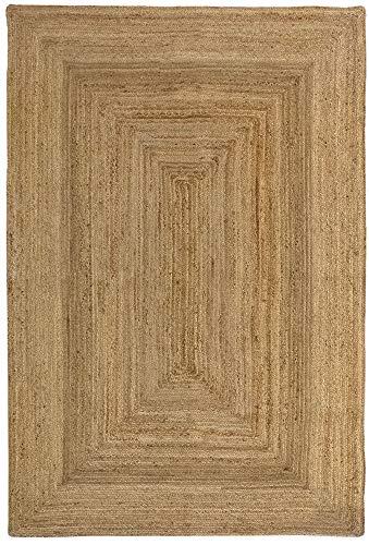 HAMID Alfombra Yute Alhambra Color Natural - Alfombra 100% Fibra de Yute (200x300cm)