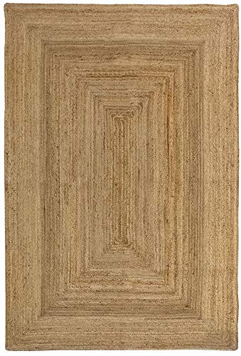 HAMID Alfombra Yute Alhambra Color Natural - Alfombra 100% Fibra de Yute...