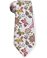 Classic Fashion Men's Necktie Summer Drawing Flowers Petal Butterfly Regular Size Colorful Funny Novelty Neck Ties For Men Teen Lovers Formal Casual