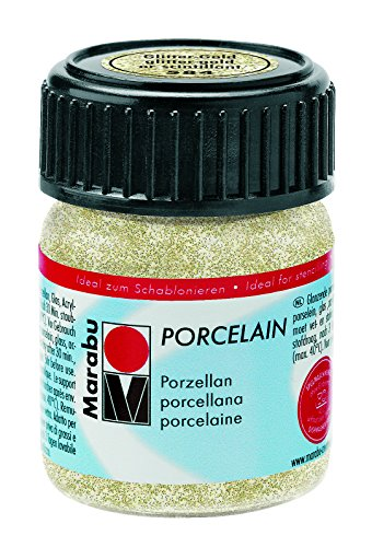 Marabu Porzellanfarbe Porcelain, Glitter-Gold, 15 ml VE=1