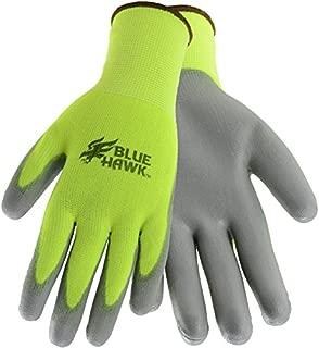 Blue Hawk Large Male Polyester Polyurethane Dipped Work Gloves Model # LWHVY37165-L