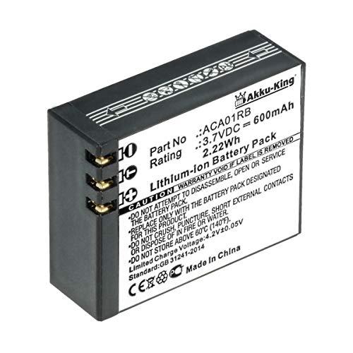 Akku-King Akku kompatibel mit Activeon ACA01RB - Li-Ion 600mAh - für Activeon CX, CX Gold, CX HD