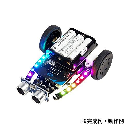 玄人志向 プログラミングロボットカー組立キット BBC micro:bit(マイクロビット) と組立ロボットカーのセッ...