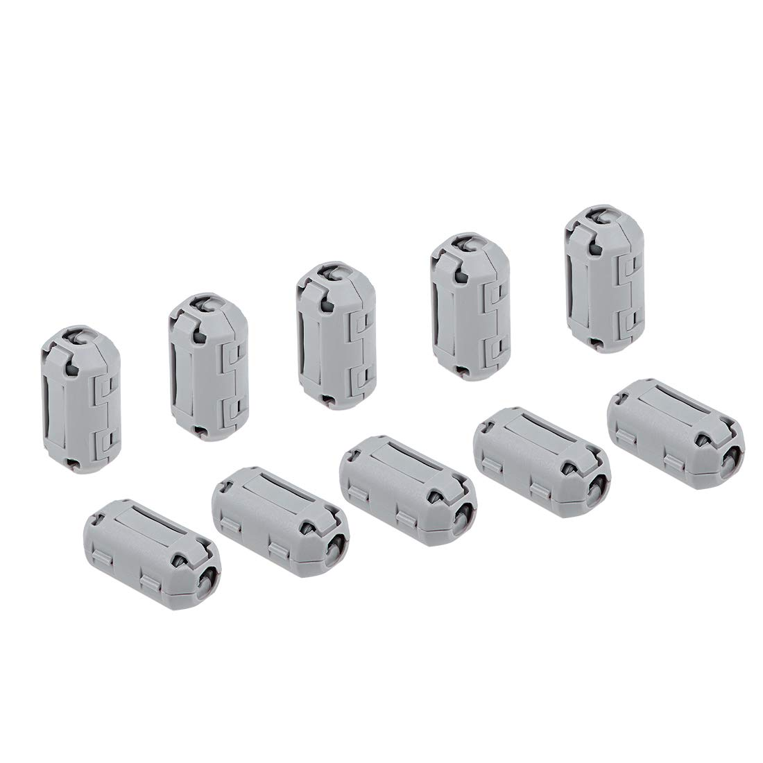 uxcell 7mm Ferrite Cores Ring Clip-On RFI EMI Noise Suppression Filter Cable Clip Grey 10pcs