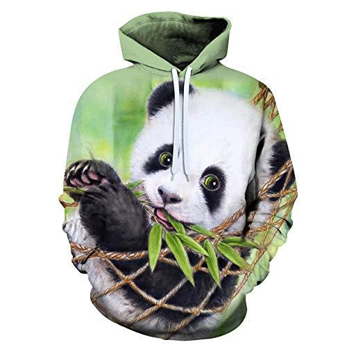 3D Panda Print Oversized Hoodies Women Men Animal Casual Long Sleeve Loose Sweatshirts Female Harajuku Street Sweatshirt Clothes-Picture_Color_Kid1