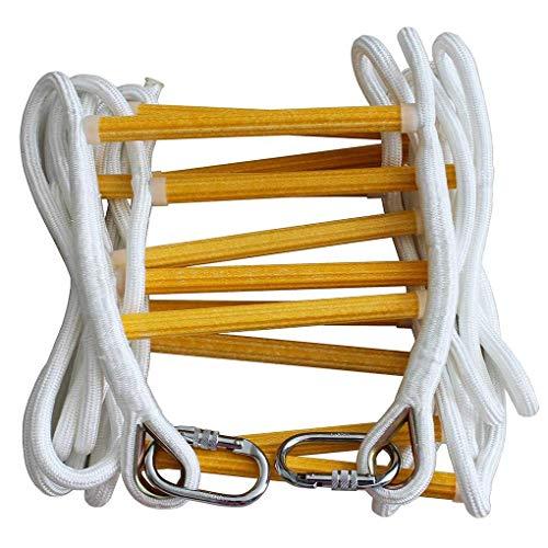 Soft Ladder Rope Ladder - Rettungsleitern im Brandfall - Weiche Sicherheitsleiter mit Karabinern für Kinder und Erwachsene Flucht,5M
