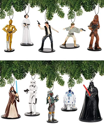 Disney Star Wars A-New-Hope Deluxe Holiday Ornament Decoration Set of 10