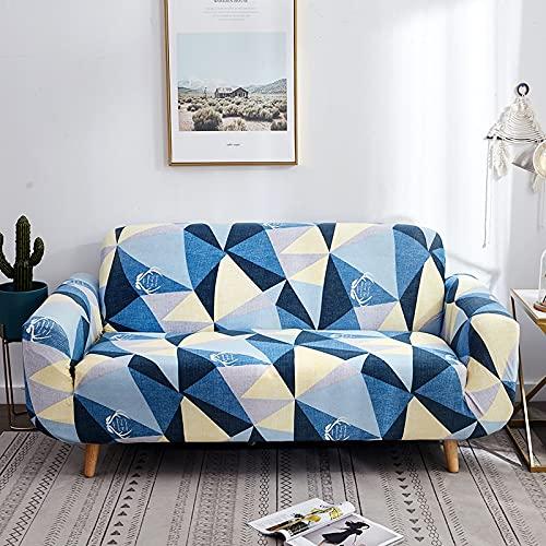 ASCV Fjäder mönster elastiskt sofföverdrag tät wrap all-inclusive halkfri soffa handduk sektionssoffa A3 4-sits
