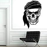 jiushivr Schädel Knochen Piraten Vinyl Wandtattoo Wohnzimmer Skeleton Sea Style Wandaufkleber...