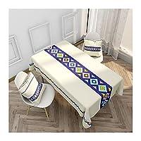 テーブルクロスシンプルパターン防水キッチンダイニングテーブルクロス長方形ティーテーブルカバーピクニックマットホームの装飾 726 (Color : Style A, Size : 140x180cm)
