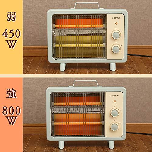 アイリスオーヤマ電気ストーブ速暖転倒時電源OFF400W/800W2段階切替遠赤外線タイプコンパクトレトロブラウンEHT-800D-T