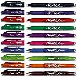 Pilot Frixion BL-FR7 - Juego de bolígrafos de tinta borrable, punta de 0,7 mm, varios colores, 10 modelos con tapa (paquete de 10 unidades, sin goma de borrar, multicolor)