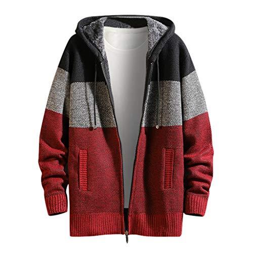Sweats à Capuche Homme Veste Hiver Chaud Polaire Doublé Jacket de Sport à Capuche POachers Manteaux à Capuche Zipper Blouson Slim Hoodies pour Hommes Sweat-Shirts Manche Longue Hoodie Outwear