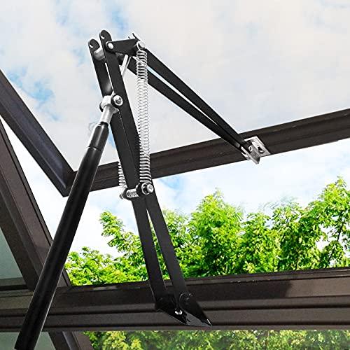 Mislaxy Automatischer Fensteröffner Gewächshaus, Doppelte Feder Fensterheber Temperaturgesteuert Hubkraft 7kg, Hubhöhe 45 cm, Ersatzzylinder Fensteröffner für Gewächshaus Dachlüfter Garten
