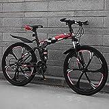 MQJ Bicicleta de Montaña, 24/26 Pulgadas Variable Variable Ligero Ligero Alto Carbono Plegable Ciudad de Bicicleta Ciudad/Highway Disc Freno Bicicleta Asiento Ajustable,B ~ 26 Pulgadas,27 Velocidad