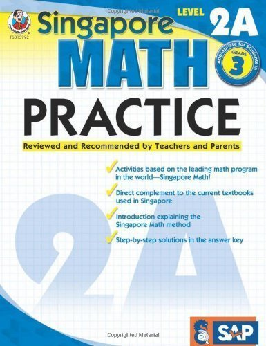Singapore Math Practice L.2A Gr.3 by School Specialty Editorial (Jun 15 2009)