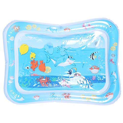 Cabilock - Alfombra de juego de agua con diseño de tiburón, cojín hinchable para el centro de actividad, juguete para recién nacido, bebé, bebé
