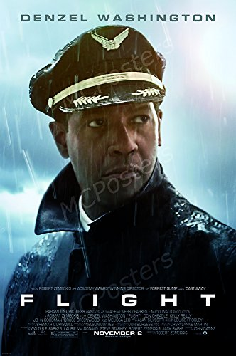 MCPosters - Flight Denzel Wahsington Movie Poster Glossy Finish - MCP028 (24' x 36' (61cm x 91.5cm))
