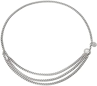 Fstrend Gorgeous Layered Body Chain Necklace Statement Coin Bikini Long Belly Waist Jewelry for Women and Girls