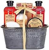 BRUBAKER Cosmetics Set de Baño y Ducha'Garden Flowers' - Fragancia de Amapolas - Set de regalo 7 uds. en un set de jardinera vintage