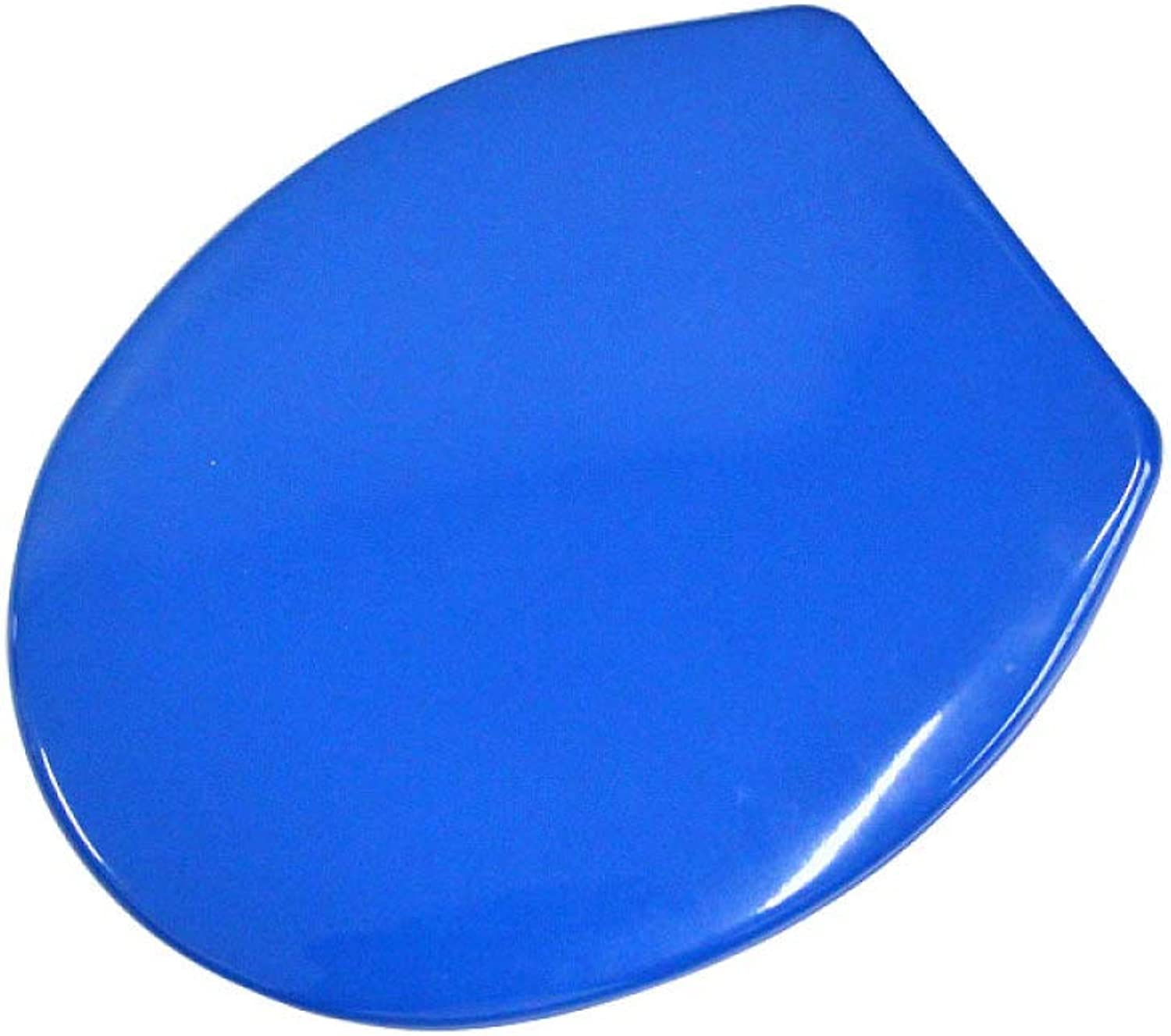 Toilet Seat With Urea-formaldehyde Slow Down Antibacterial Ultra Resistant Toilet Lid For O V U Shape Compatible Toilet Seat,bluee