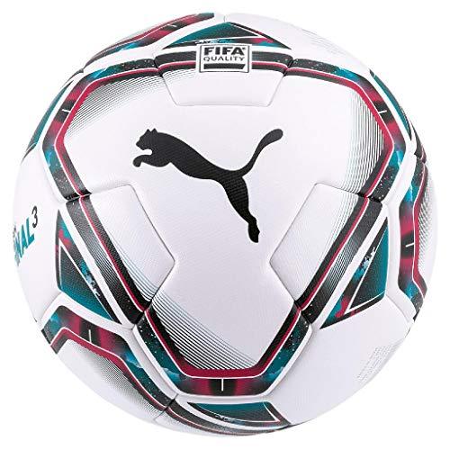 Puma teamFINAL 21.3 FIFA Quality Ball Size 4, Pallone da Calcio Unisex-Adult, White-Rose Red-Ocean Depths Black-Omphalodes, 4