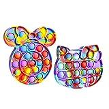 KYWAI - Pop it   Juguete sensorial de explotar Burbujas  Push Pop   Antiestres   Minnie y Kittie...