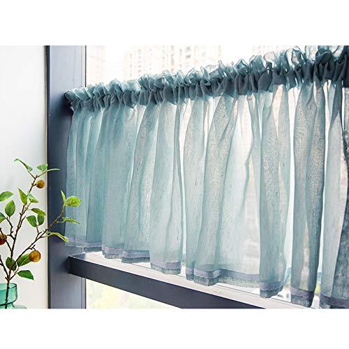 Mlxy Cortina Corta Minimalista Translucida Visillo Térmica Aislante Moderno Decorativos Cortinas, Cocina, El Baño Y La Habitación De Los Niños, 40 X 150 Cm