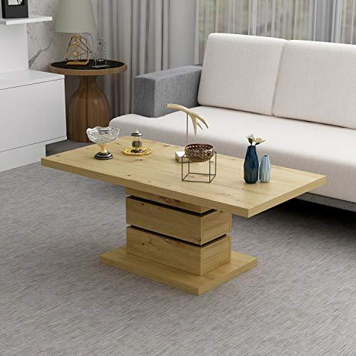 Reboz Couchtisch Wohnzimmertisch 60 x 120 cm Couch Sofa Tisch Beistelltisch zweifarbig (Artizan Nachbildung/Anthrazit)