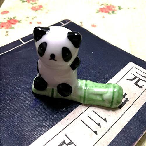 Kesheng Essstäbchenhalter mit Bambus-Keramik, süßer Pandabär mit Essstäbchenhalter