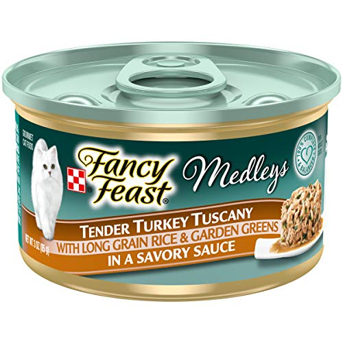 Purina Fancy Feast Wet Cat Food, Medleys Tender Turkey Tuscany With Long Grain Rice & Garden Greens - (24) 3 oz. Cans