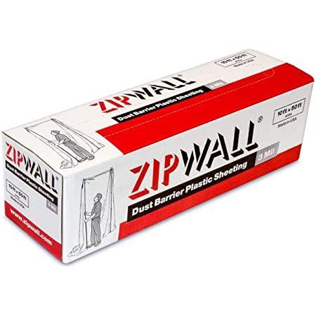 ZipWall PY50 Dust Barrier Plastic Sheeting, White