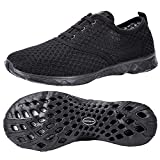 ALEADER Men's Stylish Quick Drying Water Shoes All Black 8.5 D(M) US