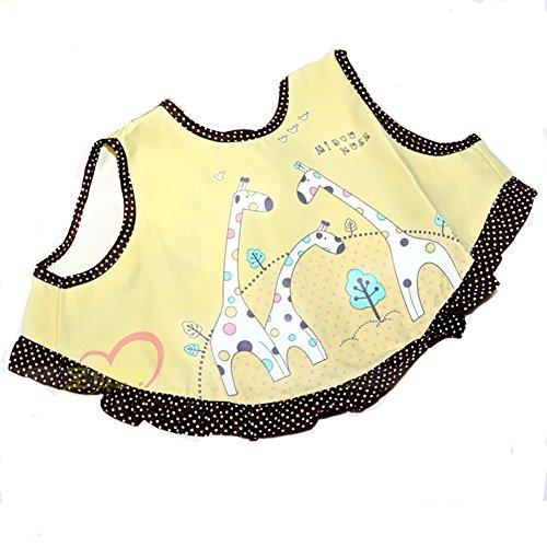 Demarkt 1pcs Bébé imperméable Big Bib Baby bavoir de riz Rice Bowl coton serviette 36cm*22cm (Jaune)