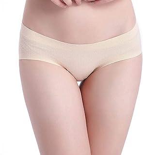Underwear Hip Pants Women's Seamless Underwear Breathable Beautiful Buttocks Women's (Color : Beige, Size : L)