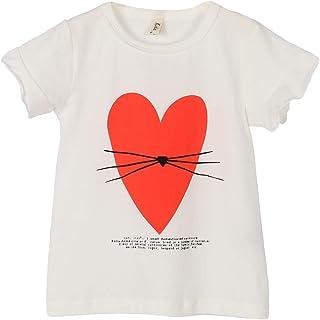 ContiKids Girls' Ruffle Short Sleeve Round Neck Summer T-Shirt Tee