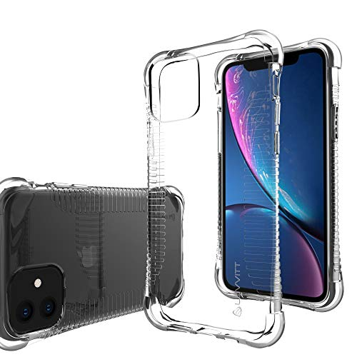 Luvvitt Clear Grip Case Designed for iPhone 11 with Shockproof Drop Protection Slim Soft Hybrid TPU Gel Bumper Scratch Resistant Silicone Cover for Apple iPhone 11 XI 2019 6.1 inch - Crystal Clear