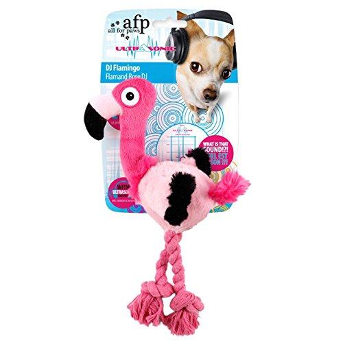 AFP AFPH03257 Hundespielzeug Ultrasonic DJ Flamingo, S