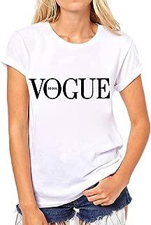 Womens Black Short Sleeve Letter Print T-Shirt Casual Teen Girls Tee Tops